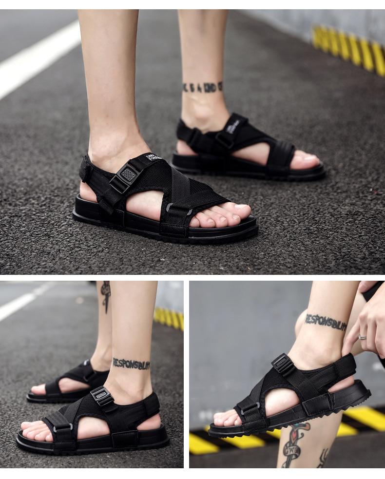Slippers Men's Sandals Men's Summer Men's Sandals And Slippers Non-slip Beach Fashion Outdoor Wear Drag Trend 84 Online shopping Bangladesh