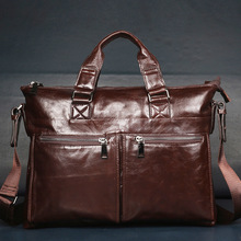 L# The new business head layer cowhide portable briefcase bag a men's men FREE SHIPPING