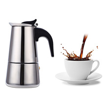 Classic Stainless Steel Coffee Percolator Moka Coffee Maker Mocha Espresso Latte Stovetop Filter Coffee Pot Percolator Tools