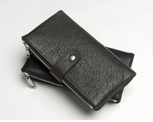 JudyFashion Unisex Stylish Handmad long wallet for men and woman real leather factory wholesale(China)