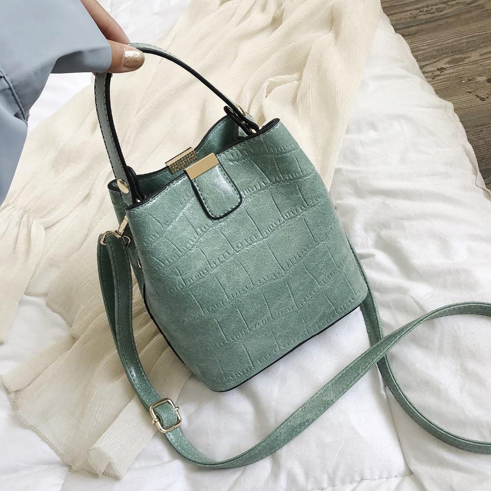 Women/'s Shoulder Bag PU Leather Tote Bucket Handbag Messenger Cross-body Satchel