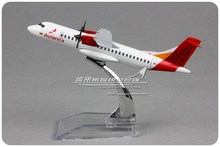 5pcs/lot Wholesale Brand New Airplane Model Toys 14cm Avianca Airlines ATR-600 Diecast Metal Plane Model Toy
