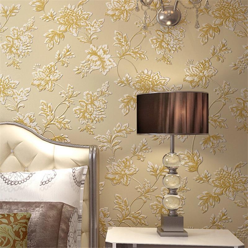 beibehang Non - woven wallpaper European garden bedroom background living room wallpaper 3D stereoscopic sculpture<br>