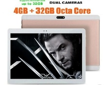 Free shipping 10 Inch Octa Core Tablet pc 4GB RAM 64GB ROM Android 4.4 dual sim WiFi FM IPS Phone Call 3G GPS Tablets