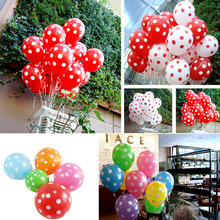 10pcs/lot Wedding Decoration Polka Dot Latex Balloons Candy Color Round Dots Inflatable Air Balloons Birthday Party Supplies(China)