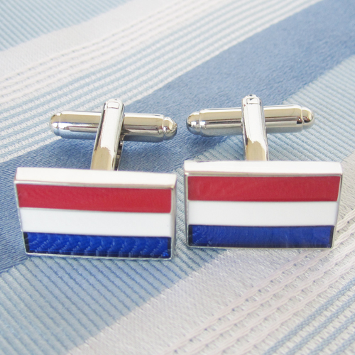 Netherlands Flag Cufflink 15 Pairs Wholesale Free Shipping