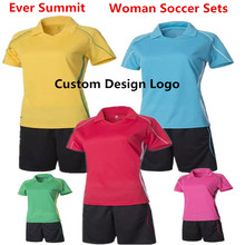 Woman Soccer Jerseys Ever Summit S303 Lady Create Team Uniforms Football Training Sets United Blank Design Customize DIY Girl