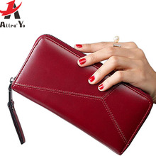 Atrra-Yo women wallet dollar price leather purse 2017 new  Female Zipper Clutch Coin Purse Ladies high quality A99ay