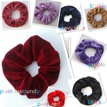 50pcs/lot Wholesale Luxurious Soft Feel Velvet Hair Scrunchie Ponytail Donut Grip Loop Holder Stretchy Hair band