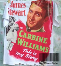 Track Ship+New Summer Fresh T-shirt Top Tee Yes Famous Actor James Stewart Carbine Williams Story 0145(Hong Kong,China)