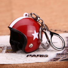 New Motorcycle Helmets Key chain Women men Cute Safety Helmet Car Keychain Bags Hot Key Ring gift Jewelry wholesale 17022(China)
