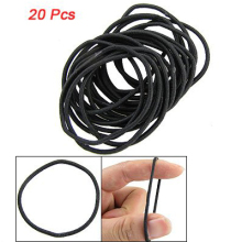 10x( 2016 20 x Simple Black Stretchy Hair Rubber Band Rope Ring Ponytail Holders Girls