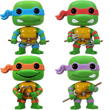 2018 newTurtle action Figure toys set 2017 New turtle 1988 action figure doll home decoration party supply gifts kid(China)