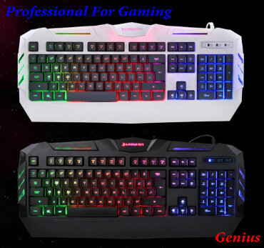 Hot Sale  Original Gaming Keyboard Colorful Backlight LED Ergonomics Wired USB Professional Gaming Keyboard For Gaming Dota CF<br><br>Aliexpress