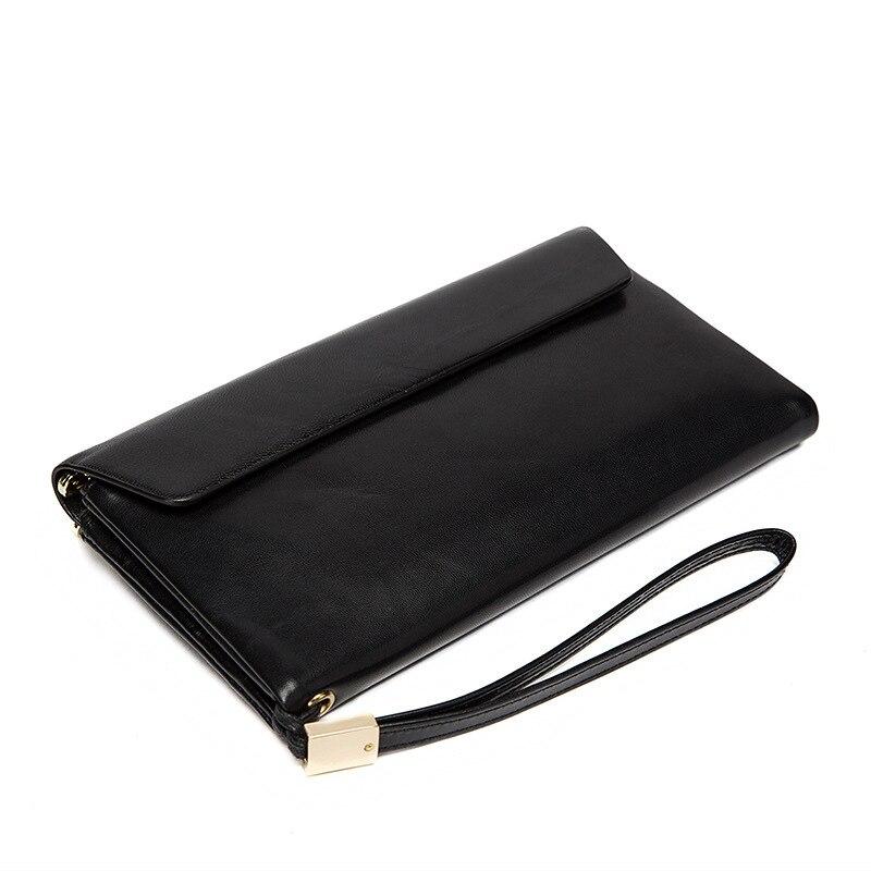 Черный кошелек на молнии из мягкой кожи