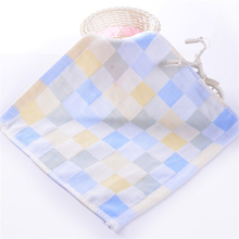 10pcs Fashion Plaid Kids Handkerchief Soft Cotton Baby Bath Towel Infant Face Hand Washcloth Quick Dry Newborn Wipes Baby Towel(China)