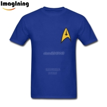 Cool Design TV Show Movie Star Trek Spock Logo tshirt Creative Men Short Sleeve Man Tees