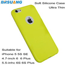1000pcs/lot Hi-Q Ultra Thin Smart Phone Soft Case Colorful Silicon Back Protection Cover For iPhone 5 5S SE 6 6s plus 7 7 plus(China)