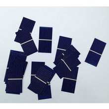 100pcs Solar Panel Sun Cell Sunpower Solar Cell Polycrystalline Photovoltaic Panel DIY Solar Battery Charger 0.5V 0.225W 52*26mm