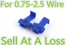 10pcs G14 802P3 Blue Scotch Lock Quick Splice Crimp Terminal 18-14 AWG Hard Soft 0.75-2.5 Wire Connector Sell At A Loss