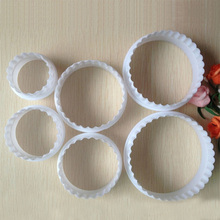 Round Shape Sugarcraft Fondant Cake Decorating Cookies Cutter Paste Mold Tools 6Pcs/set(China)