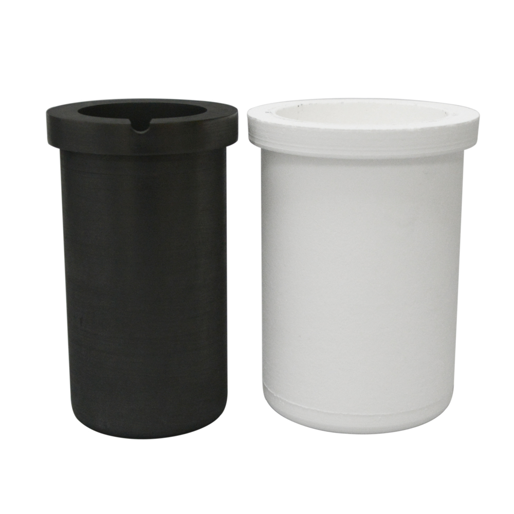 1-5 KG Induction Furnace Dedicated Graphite Crucible Cup With Quartz ceramic protective sleeve for Melting Metal Set Combination<br>