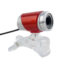 USB UVC Web Camera HD Webcam High Definition PC Digital Net Bar Laptop Office Home Red(China)