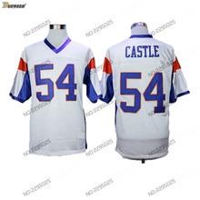 DUEWEER Mens Kevin Thad Castillo Blue Mountain State Football Jerseys Cheap  blanco  54 Thad Castillo película cosido camisetas d. b0d7a0804ee
