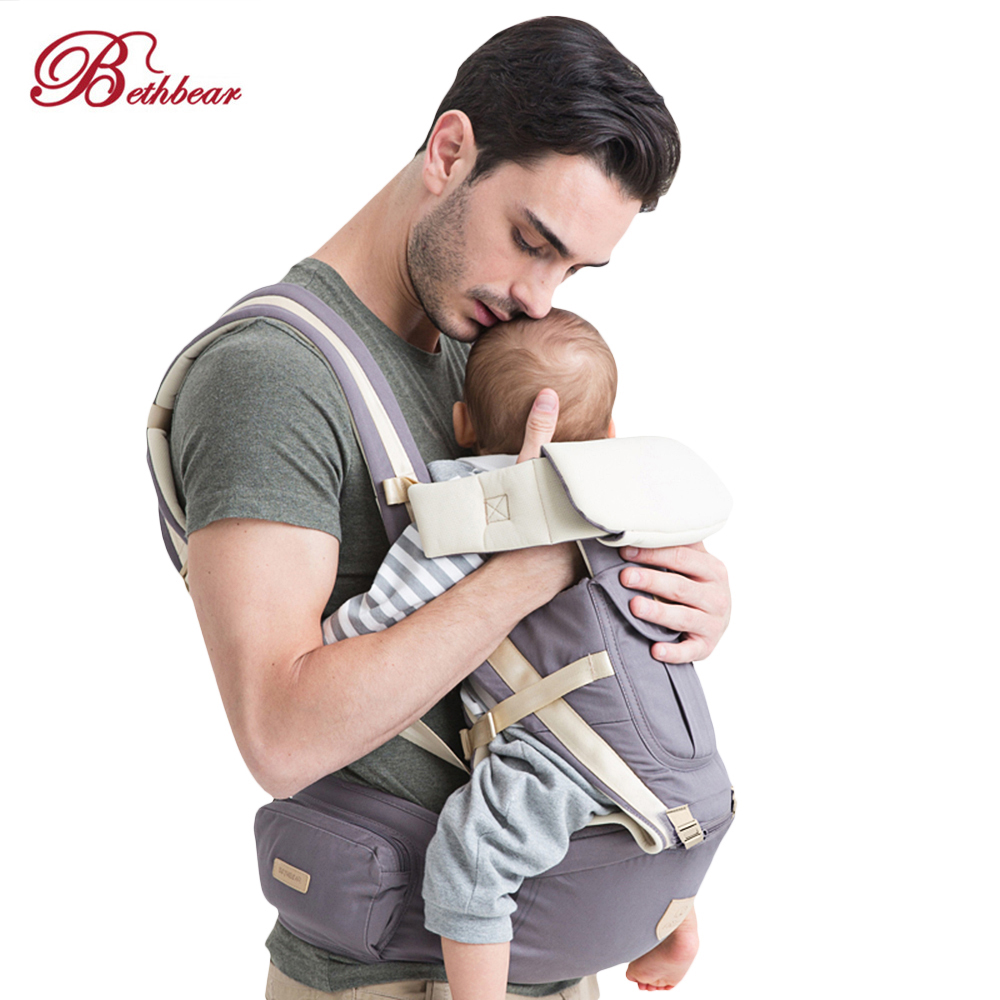 Bethbear 3 In 1 Multifunction Hipseat Ergonomic Baby Carrier 0-36 Months Wrap Infant Anti-Slip Sling Backpack Waistband Bag