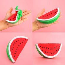 1PC PU Squeeze Squishy Watermelon Fruit Slow Rising Simulation Stress Stretch Kids Toys
