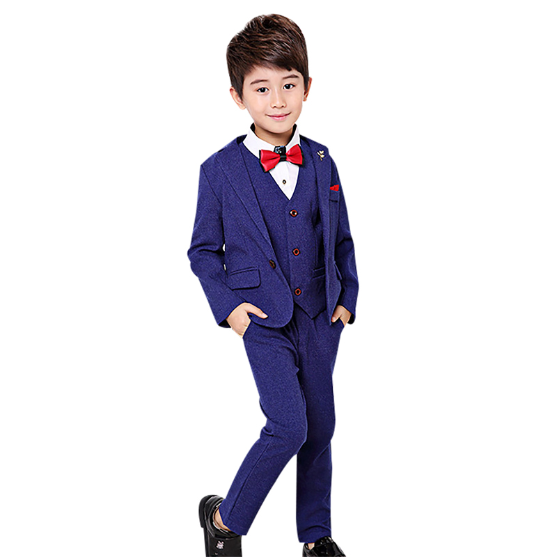 3pcs/sets Boys Suits for Weddings Prom Costume Children Clothes Set enfant garcon mariage Kids Boy Blazer Pants Vest Formal Suit<br>