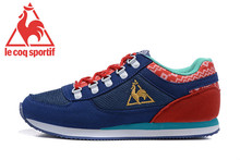 Free Shipping Classic Women's Sports Shoes,New Arrivals Original Le Coq Sportif Running Shoes Navy Blue/Red Color Size Eur 36-39