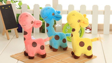 Cute 3Colors - 18CM Height Plush Giraffe , Stuffed Animal plush toy doll ; Sucker Window Pendant Toy doll , Wedding Gift Toys