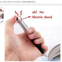 2017 Promotion Fancy Ball Point Pen Shocking Electric Shock Toy Gift Joke Prank Trick Fun Novelty Friend's Best Gift