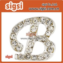 50mm 100pcs crystal rhinestone letter B brooch jewelry for party supplier(China)