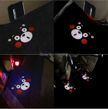 2PCS/set Kumamon Logo Wireless LED Car Door Projector Laser Light LED Welcome Ghost Shadow Light For AUDI A4 A6 A8 Q2 Q3 Q5 Q7