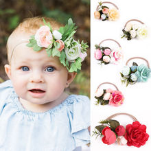 2017 New Kids Girl Baby Toddler Infant Flower Headband Hair Band Headwear Accessories Party Wear Flower Headband(China)