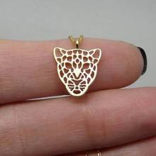 Hot Selling Gold Tiger Necklace Leopard Charm Animal Jewelry Silver Tiger Animal Lovers Gift