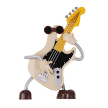 Mini Musical Toys Acoustic Guitar Electric Plastic Guitar Playing Design Music Sound Box Nice Gift for Children