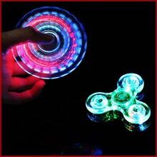 Flashing Magic Finger Spinner Hand Waterproof Colorful Mini Gyro Children Women Men Cool Popular Spinners ABS Toys