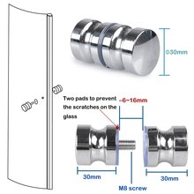 2 Pack Shower Screen Round Back-to-Back Door Handle Door Knob Replacement Polished Chrome(China)