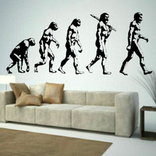 Visual Evolution Of Man Large Vinyl Transfer Giant Removable Wall Sticker Decor DIY Wall Decal Stickers