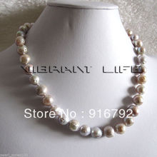 "free shipping >>>>>18"" 9-10mm Light Lavender A Kasumi Freshwater Pearl Necklace AC"