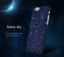 New Style 3D Cover Three-dimensional Stars Ultra thin Frosted Starry Sky Phone Case for iPhone 6 6S Plus Hard PC Back Cover