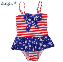 Hirigin Toddler Kids Baby Girls One-Piece Suits Beachwear national flag Swimsuit Swimwear Bathing Suit