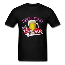2017 Unique Mens Beer Pong Princess style Tees Shirt Eco Cotton Custom Youth Guys Funny T Shirts XXXL