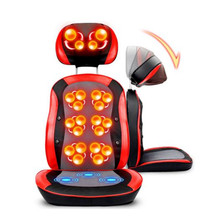 Electric Shiatsu Massage Cushion 3D Heating Relax Body Massager Vibration Knead Back Massage Chair Device Massage & Relaxation(China)