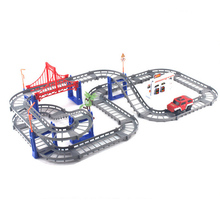 Double Tracks Rail car Train Railway Kids Train Track Model Slot Toy Baby Education Racing Car Double Orbit Car Birthday gift