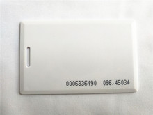 125KHz EM4100 RFID Proximity ID Card 1.8mm for Entry Access Control(China)