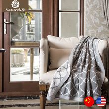 Naturelife 2017 Throw Blanket 100% Cotton Knitted Blanket Adult Blanket SpringAutumn Sofa Air On Bed Blanket Cobertor(China)
